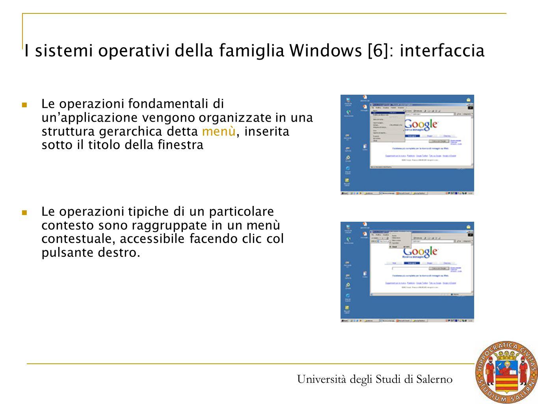 I sistemi operativi della famiglia Windows [6]: interfaccia